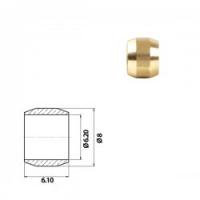 Муфта для медной трубки нзга 6мм ( 100 шт. В уп.)